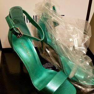 Nine west metallic heels
